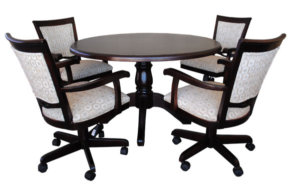 round table with caster chairs as well cast iron swivel caster