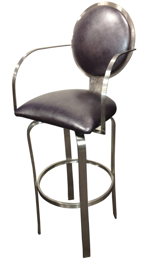 Swivel Stainless Steel Barstool stainlessg