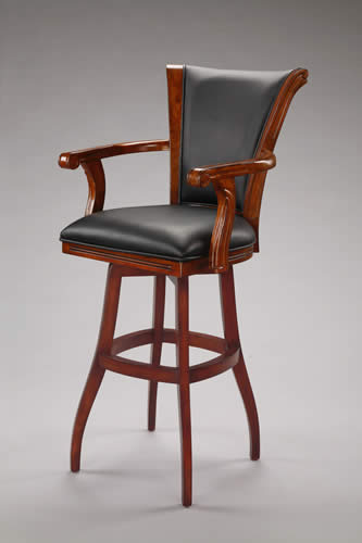 Solid Wood Swivel Bar Stool