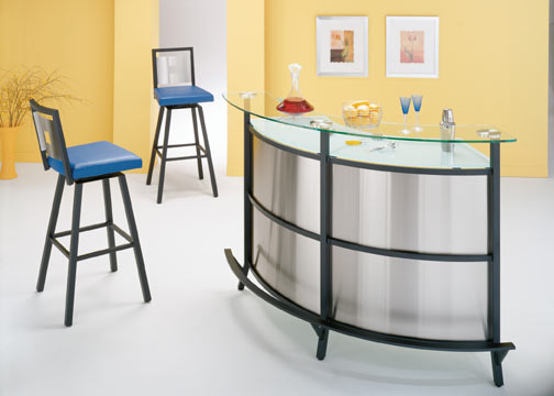 Manhattan Stainless Steel Home Bar