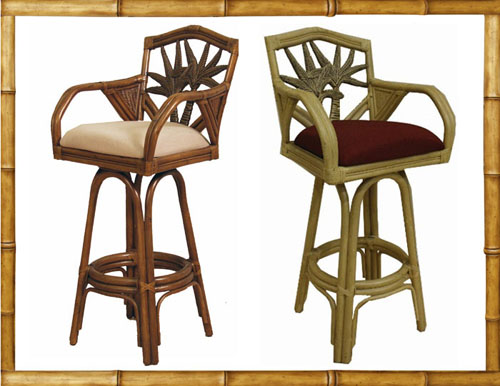 Legacy Rattan Bar Stool Swivel Counter Chair barstool rattan PR havanag