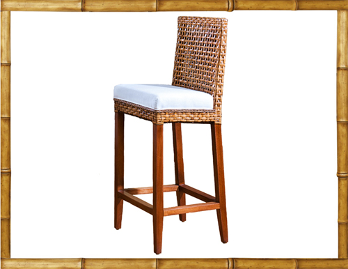 Cemera Rattan Stool Non Swivel Bar Stool