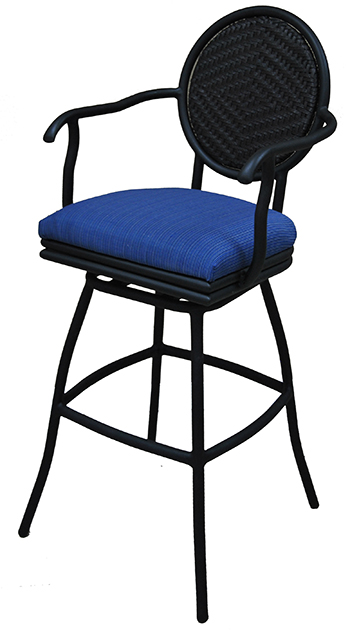 adelle outdoor stool upholstered