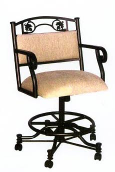 Swivel Chair with Counter Height Seating w No arms