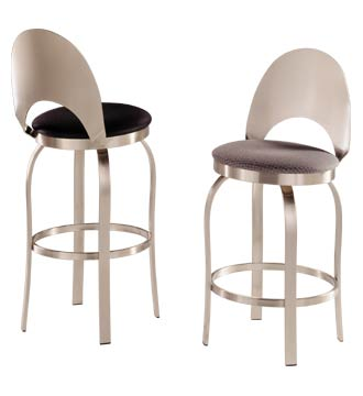 Swivel Bar Stool w Wood Seat and Decorative Stainless Backrest  sc 1 st  USA Barstools & Champagne 30 inch Bar Stool islam-shia.org