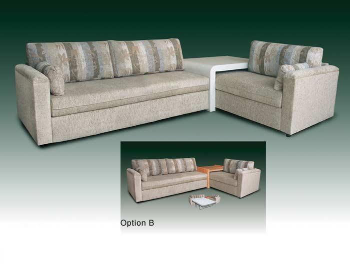 Bahama twin sofa bed and table for Corner bed table