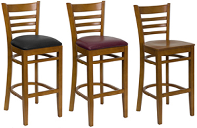 Wood Wooden Swivel Bar Stools